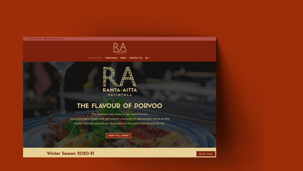 Ranta-Aitta Restaurant Website