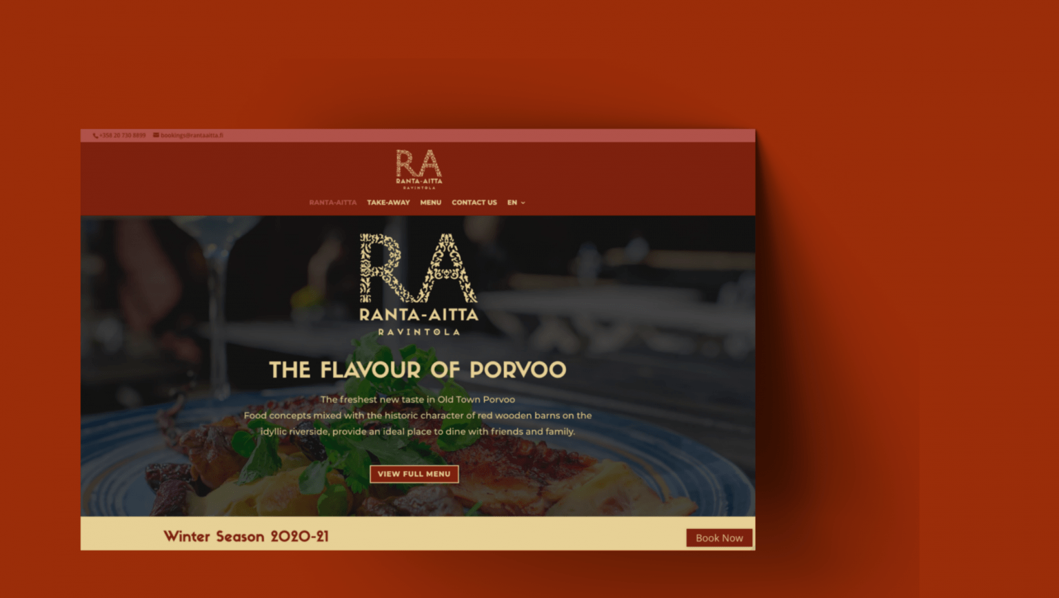 Ranta-Aitta Restaurant Website