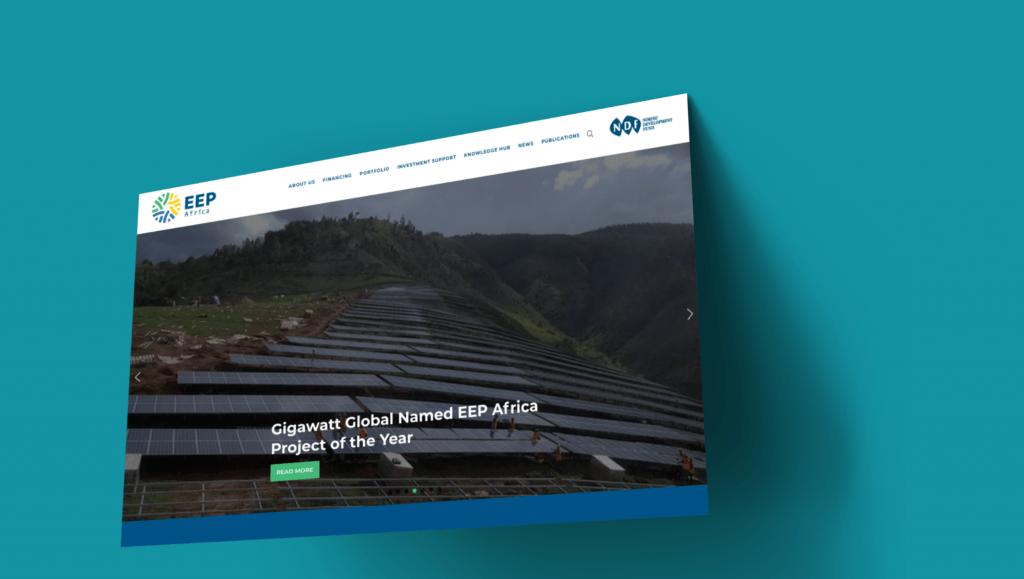 EEP Africa Website developed by Atelier Digital
