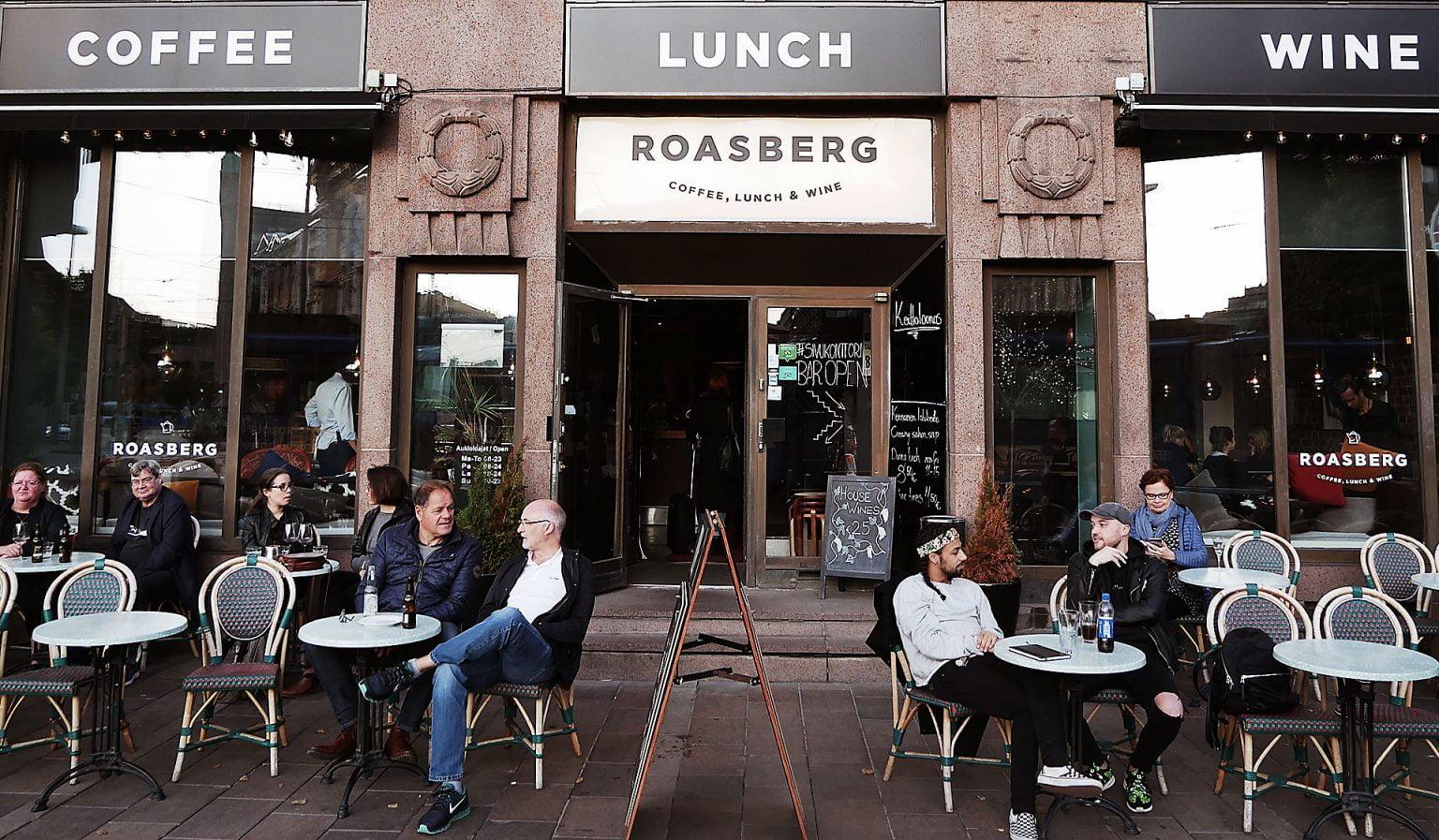 outside Roasberg Coffee